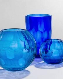 Ultramarine Blue Glass Vase H30cm