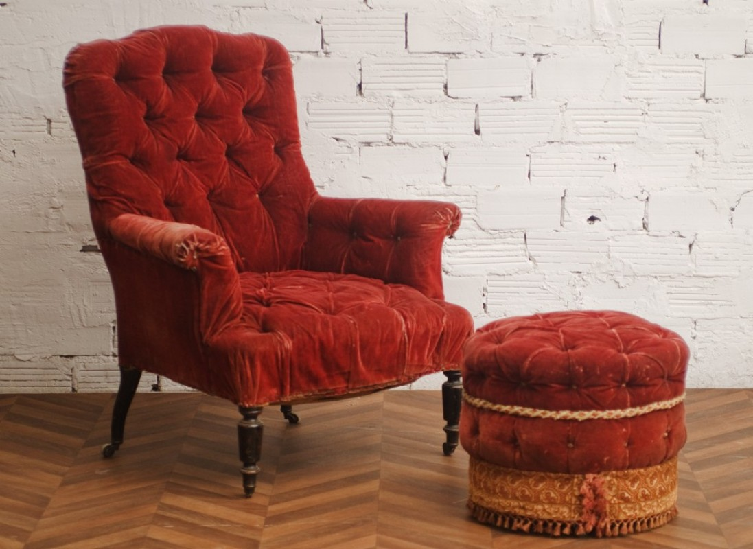 armchair and ottoman napoleon iii - Fauteuil Napoleon 3