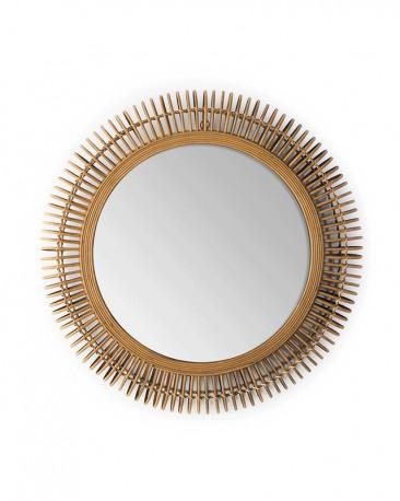 Round Wicker Mirror ø 80 cm
