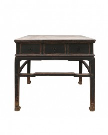 Square Console Table made of Elm, 100 Y.O
