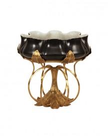 Black Art Nouveau Porcelain Cup