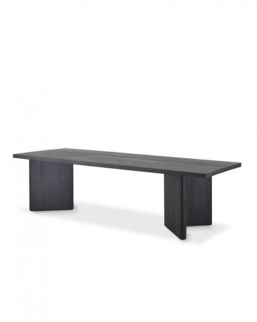 Dolmen V Dining Table, Black Oak