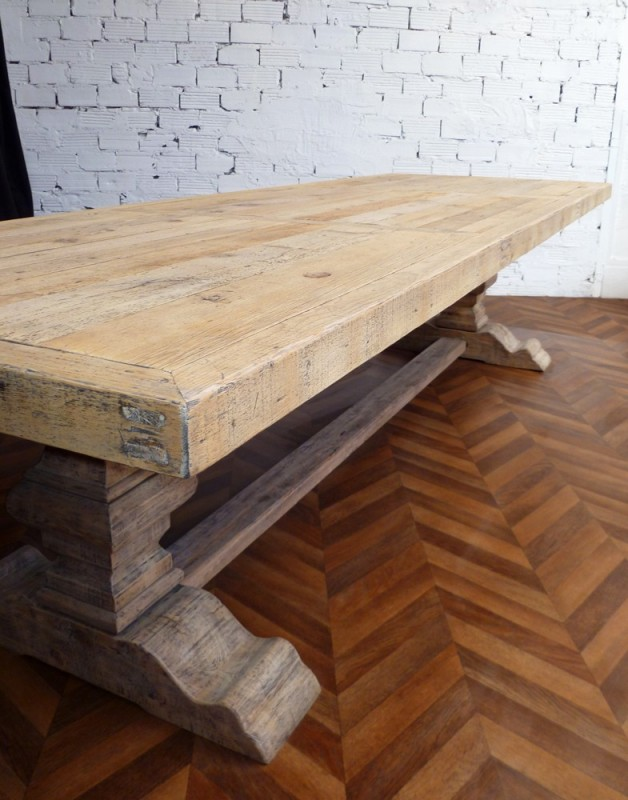 Grande Et Belle Table De Ferme Monast 232 Re En Bois Brut
