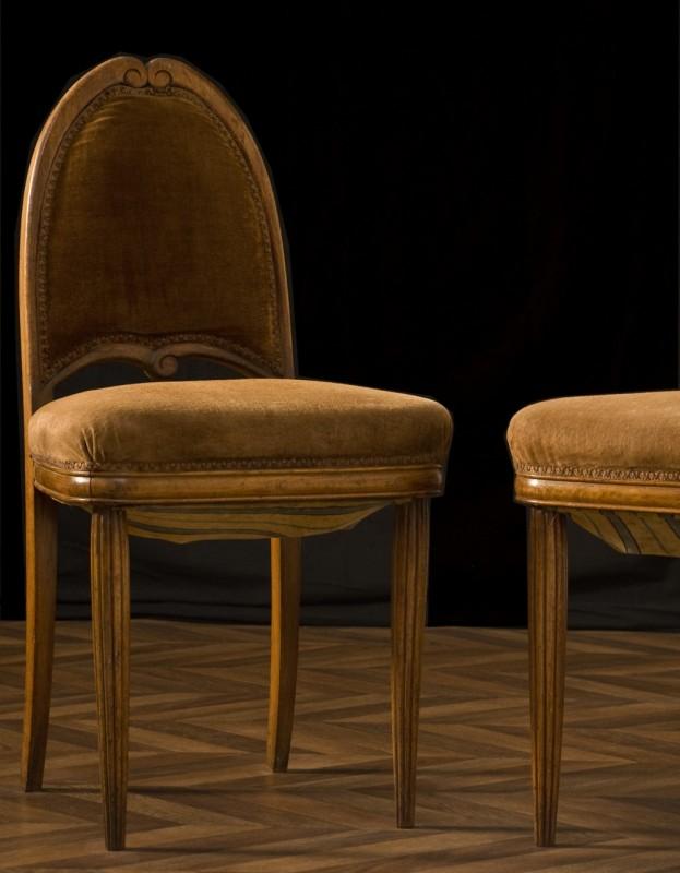 chaises art d co vintage chaises anciennes ann es 1920. Black Bedroom Furniture Sets. Home Design Ideas