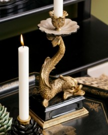Dolphin Candlestick Early Twentieth Style