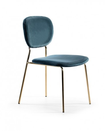 Zora Chair Indigo Velvet