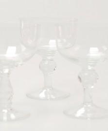 Grands verres en cristal