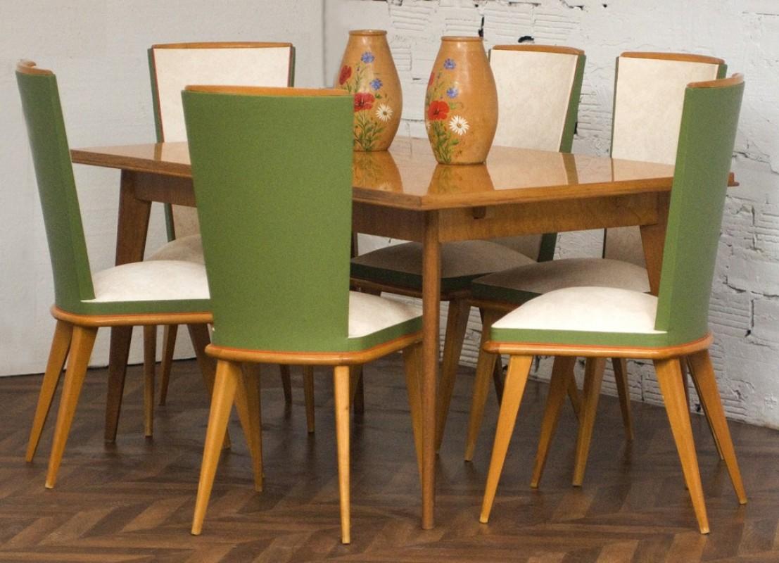 Table ancienne de salle manger ann e 1950 salon diner for Table salle a manger ancienne
