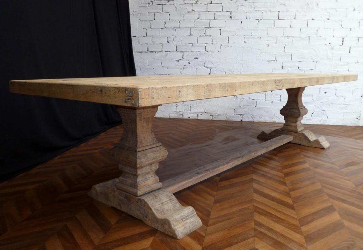 #69452C Table De Ferme Table Monastère Bois Massif Salle à  3859 salle à manger monastère chêne massif 1158x800 px @ aertt.com
