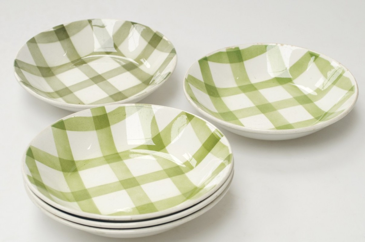 vintage plates, glazed ceramic, vintage kitchenware, old french ...