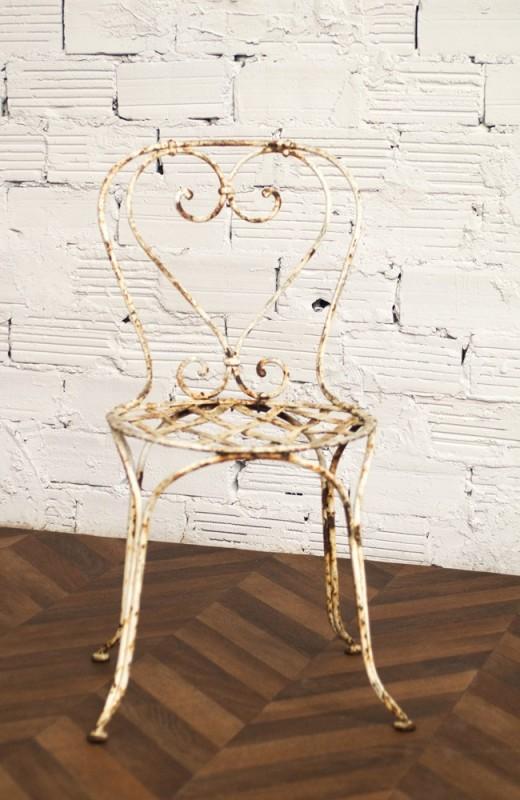 chaise jardin, chaises fer forgé, ancienne, vintage, 1900, 1920 ...
