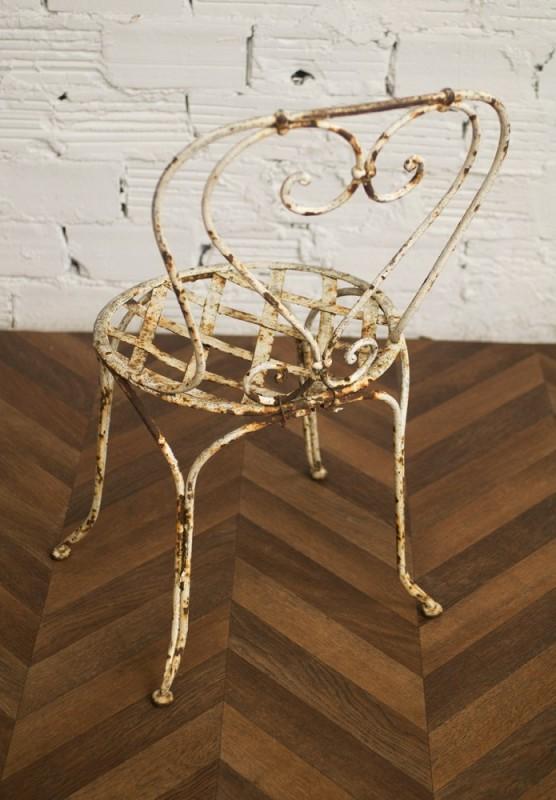 ... Deux chaises en fer forgé ... - Iron Chairs, Vintage, Wrought Iron, Farmhouse, Outdoor Chairs