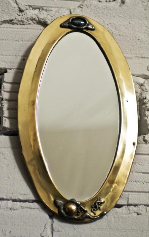 Miroir ancien miroir artisanal piece unique travail for Miroir artisanal