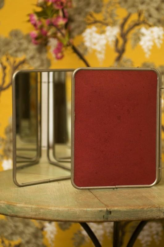 Vintage Triptych Hand Mirror Antique Mirrors