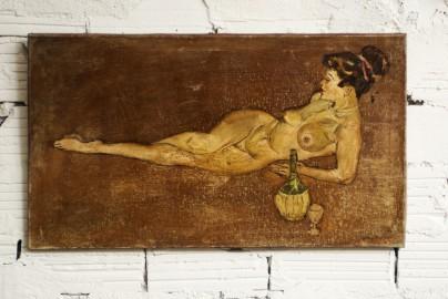 Tableau, nu féminin, huile sur toile - VENDU