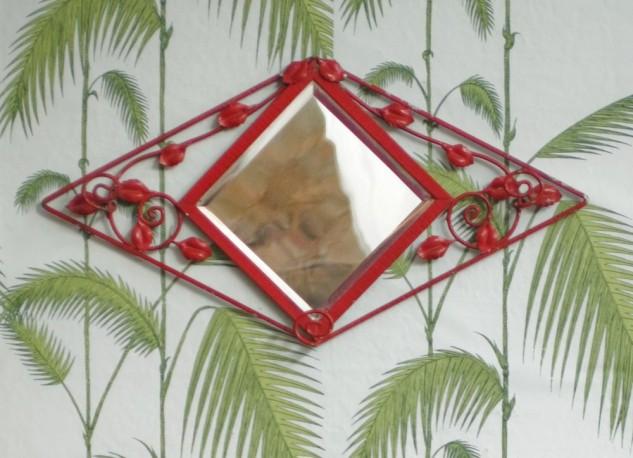 Porte manteaux miroir années 30