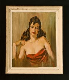 Portrait, femme fatale années 40
