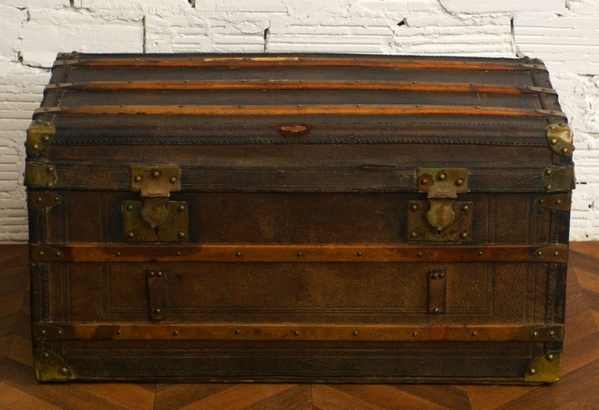 Trunk Antique Old Retro Vintage Diligence Wood And
