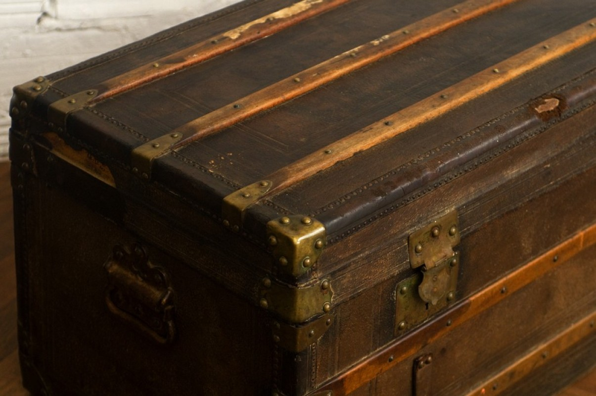 Coffre Malle Valise Voyage Diligence Ancienne R Tro