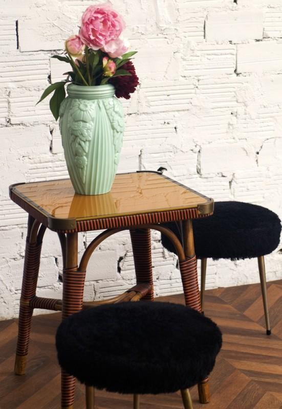 table table basse gu ridon ancien vintage r tro 1940 1920 1930 art d co. Black Bedroom Furniture Sets. Home Design Ideas