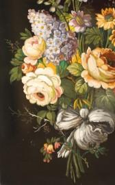 Paire de Gouaches, style Napoléon III