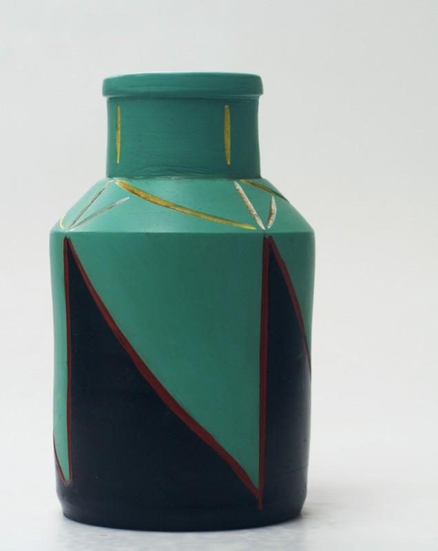 Ceramic Vase Handmade Art Deco Style Unique Piece