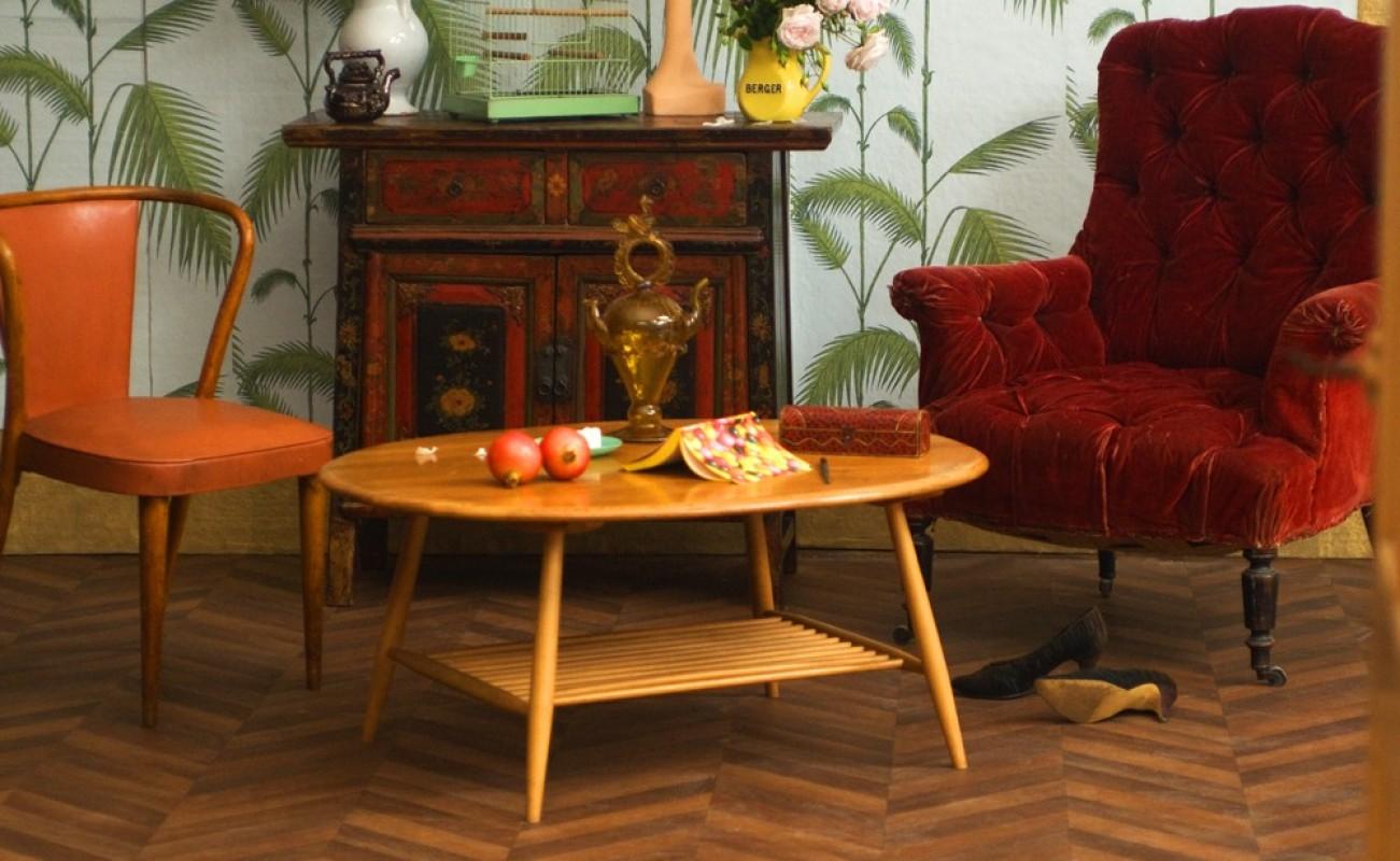 coffee table vintage ercol furniture maker england. Black Bedroom Furniture Sets. Home Design Ideas
