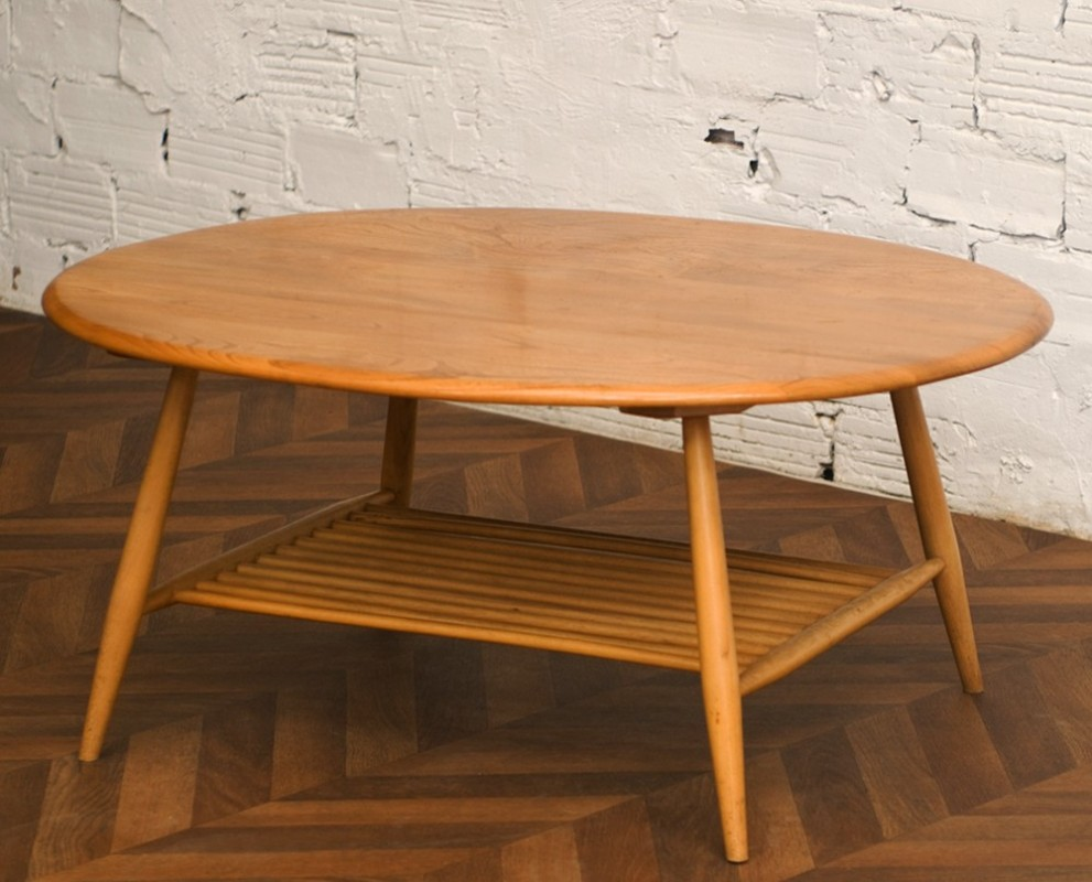 Coffee table vintage ercol furniture maker england - Table basse 50 euros ...