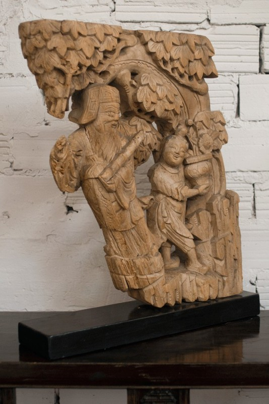 Antique Chinese Statues Sculptures Chinese House Doors