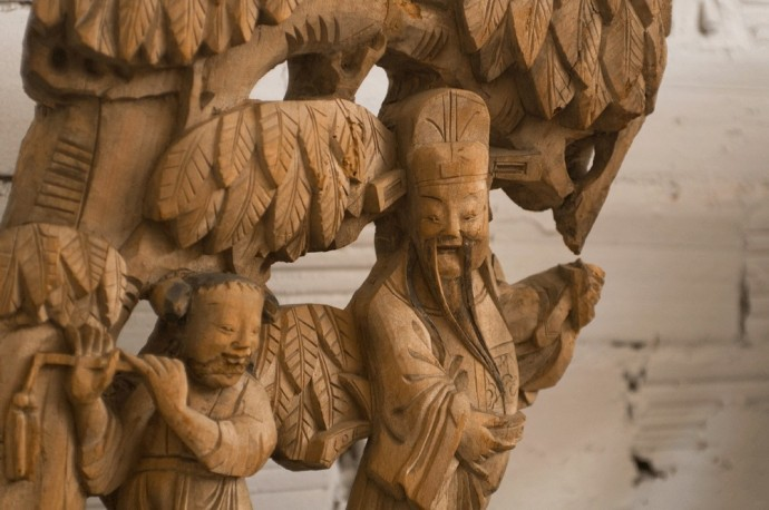 Antique Chinese statues