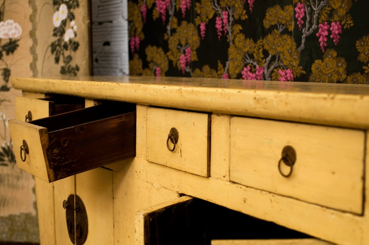 Buffet chinois ancien en orme meuble chinois ancien for Meuble buffet chinois