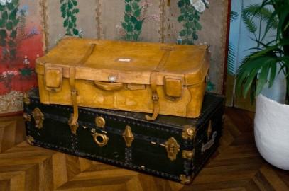 Ancienne valise de voyage des années 40