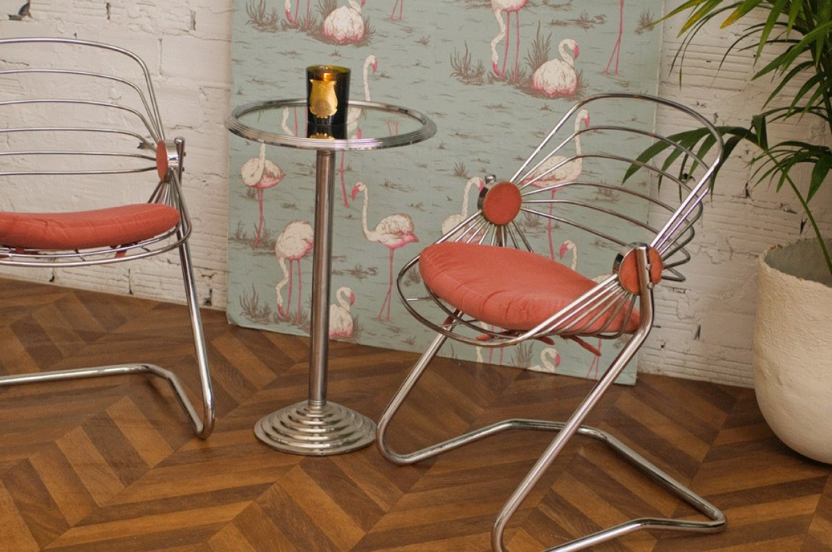 Vintage Chairs And Table 60s ...
