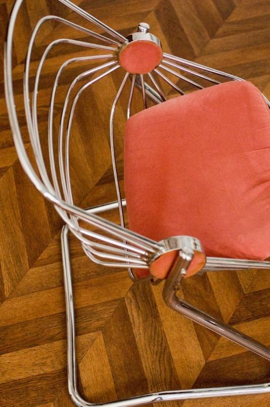 chaises vintage chaise design 70 ann es 70 1970 60s fer m tal chrome chaise design. Black Bedroom Furniture Sets. Home Design Ideas