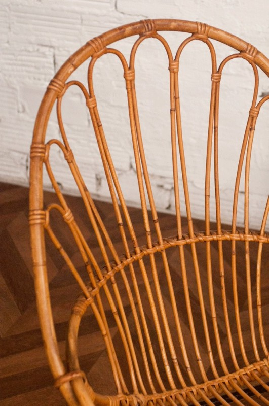 Cuisine Gris Anthracite Et Rouge : vintage rattan chair, 50s, 1950, vintage rattan chairs, design 50