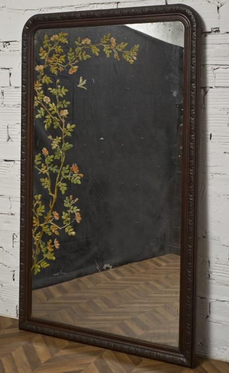 Grand miroir vintage objet de decoration unique ancien for Miroir 2 metres