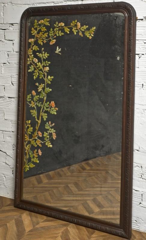 large hand painted mirror antique and vintage mirror unique