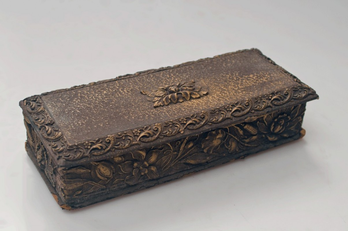Old Glove Box Antique Box 1900 Napoleon Iii