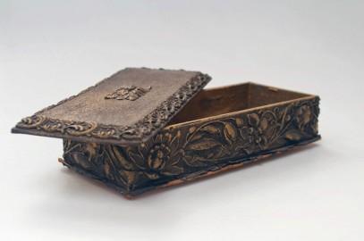 Boîte à gants ancienne, fin XIXeme