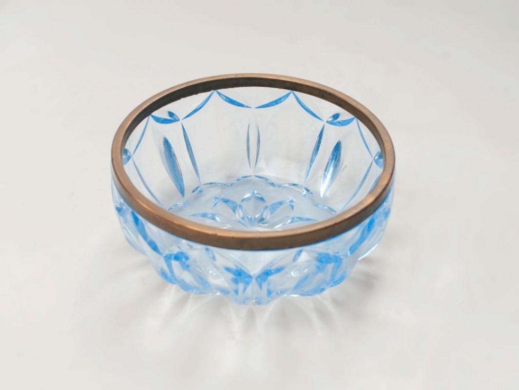 saladier art d co 1950 verre cisel bisaut vintage saladier r tro art d co. Black Bedroom Furniture Sets. Home Design Ideas