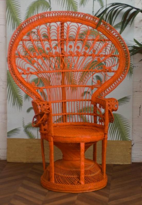 fauetuil enmmanuelle chaise emmanuelle rotin vintage ancienne ann es 70 1970. Black Bedroom Furniture Sets. Home Design Ideas
