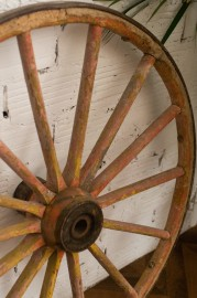 Wheels of Old Caravans