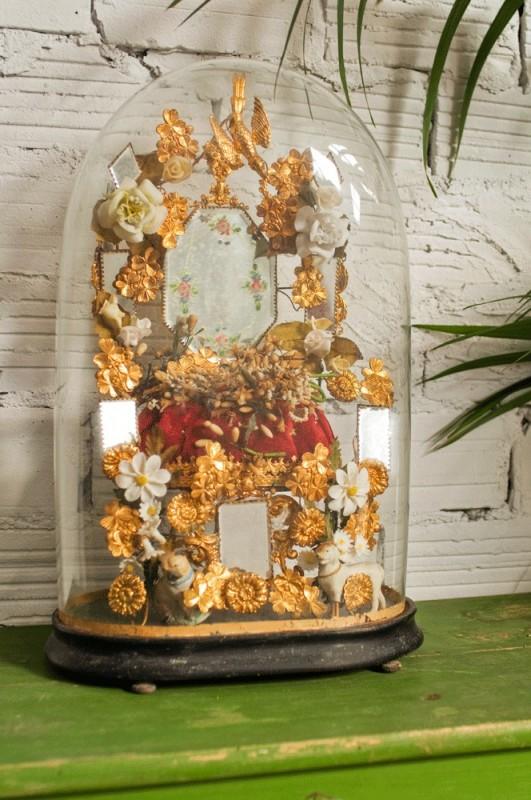 globe de mari e globe de mari e ancien vintage napol on iii bouquet de mari e curiosit. Black Bedroom Furniture Sets. Home Design Ideas