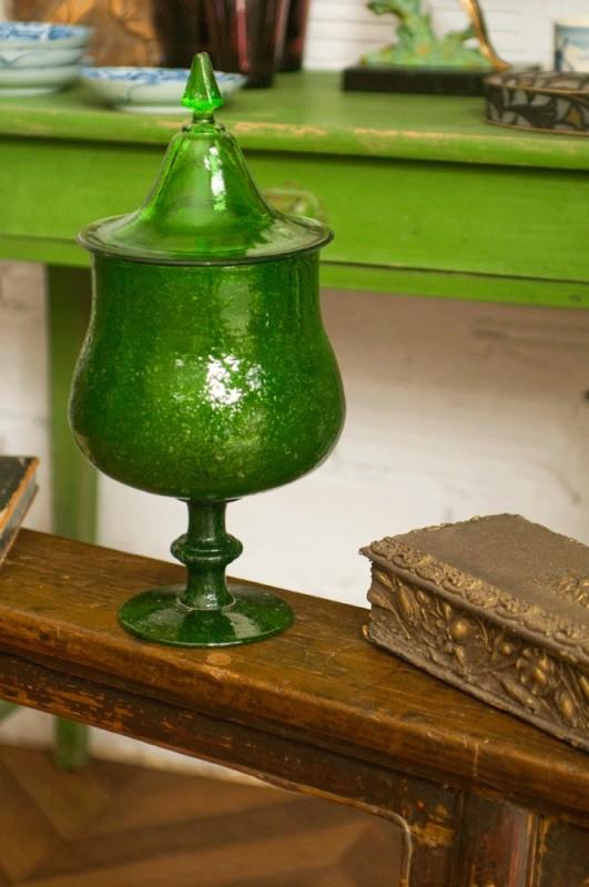 bonbonni re ancienne vintage r tro en verre souffl e fait la main verre de biot. Black Bedroom Furniture Sets. Home Design Ideas