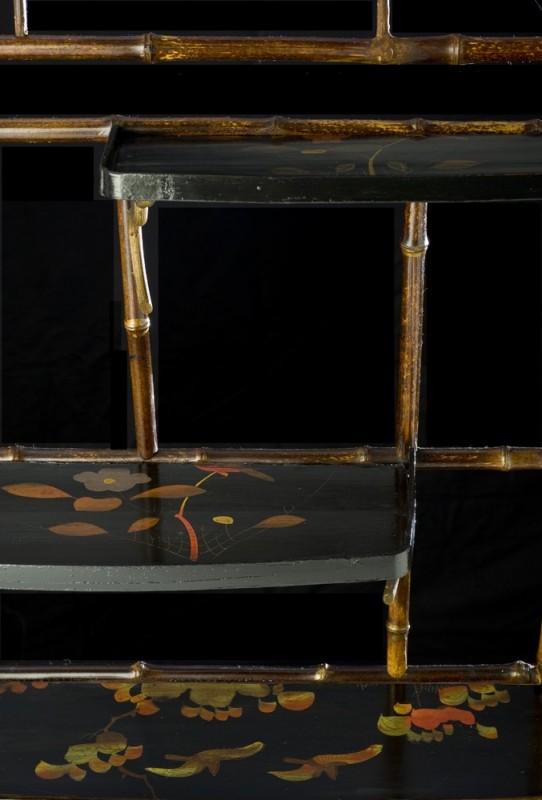 petite tag re en bambou et bois laqu un meuble authentique ancien et vintage de style asiatique. Black Bedroom Furniture Sets. Home Design Ideas