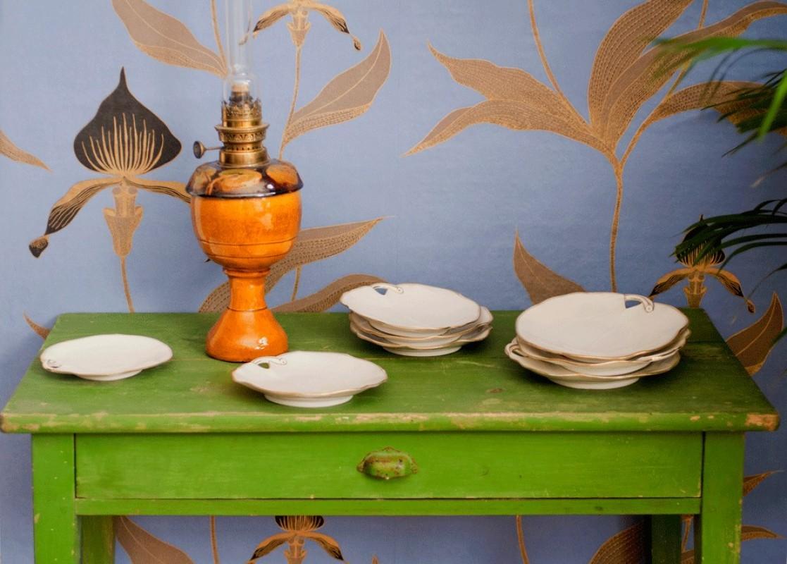 assiettes dessert anciennes assiettes fabrication. Black Bedroom Furniture Sets. Home Design Ideas