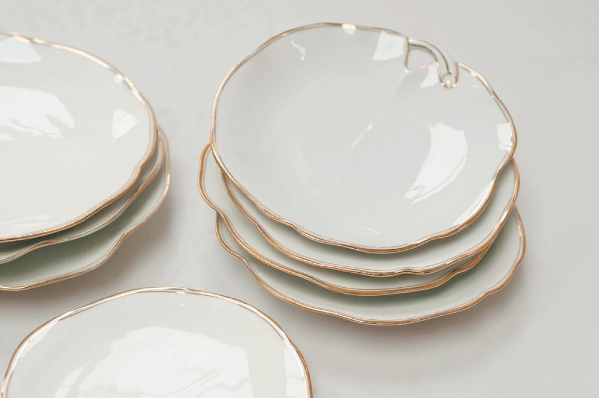 Vintage Dessert Plates Antique Plates White Porcelain