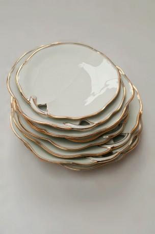 Vintage dessert plates Limoges & vintage dessert plates antique plates white porcelain limoges ...