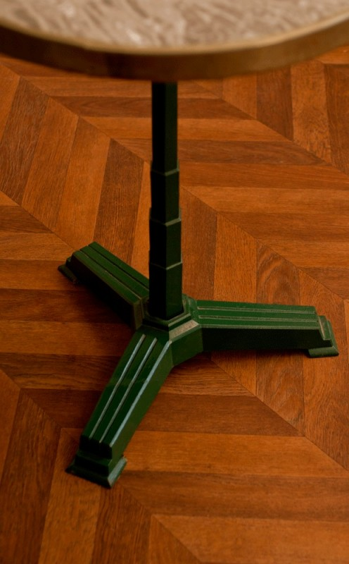 gu ridon bistrot table bistrot ann es 50 1950 caf paris pi tement fonte art d co. Black Bedroom Furniture Sets. Home Design Ideas