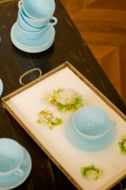 """Plateau porcelaine """"Hortentias"""""""